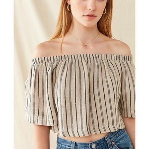 urban renewal off the shoulder top